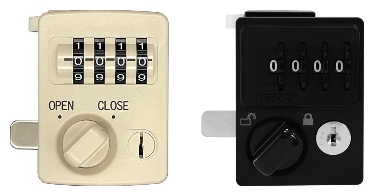 任意の4桁の数字を合わせて施錠・開錠するダイヤル式